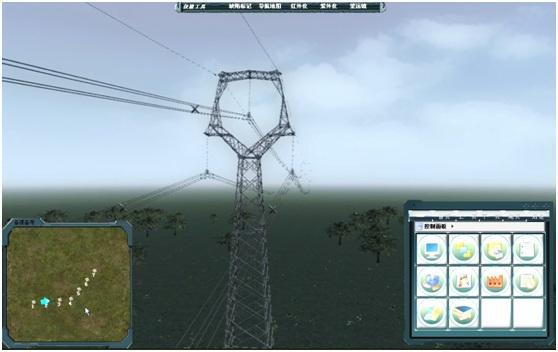 电力三维输电线路巡检仿真培训系统